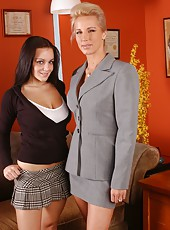 Sexy lesbians Natasha Nice and TJ Hart with their beautiful big tits