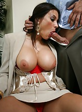 Perfect-shaped giant tits, sexy trimmed pussy by Sheila Marie in the action