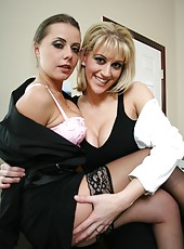Horny lesbians with sexy groomed bodies Eve Laurence and Penny Flame