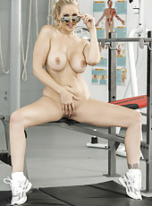 Nasty mature Julia Ann playing with her sissy and rubbing big boobies