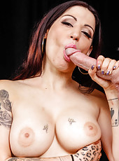 Petite whore Daisy Cruz loves working with big cocks and gets cum on her face