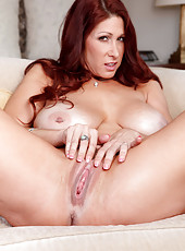 Snazzy whore Tiffany Mynx demonstrates her skills in posing and fingering
