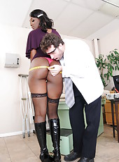 Delicate Nyomi Banxx likes to deal with naughty boys and taste their cocks