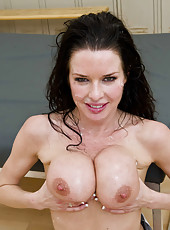 Glamorous milf Veronica Avluv enjoying an awesome group sex with rough boys