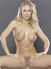 Charming blonde Marco Banderas spreading hairy sissy and fingering it