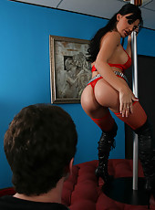 Topnotch milf Aletta Ocean showing a hot striptease and getting a good anal sex