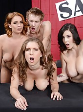 Three delicious and buxom milfs Alex Chance, Ashley Graham and Noelle Easton in the action