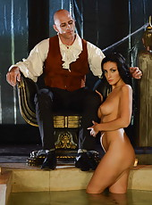 Black haired first-class bombshell Amber Cox gets fucked by big cock