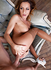 Great anal penetration for horny and excitingly wild milf Alice Romain