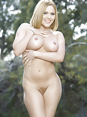 Awesome outdoor action with a pretty blonde milf Krissy Lynn