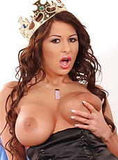 Hot milf with shaved pussy Allison Star won big tit contest and shows us why