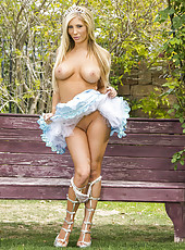 Real babe with a pair of pure perfection Tasha Reign shows all her treasures