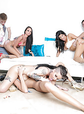 Dream scene with four amazing milfs Christy Mack, Raven Bay, Rikki Six and Romi Rain