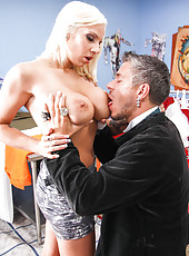 Tattooed blonde milf with hot tattoos Lylith Lavey demonstrates perfect fucking scene