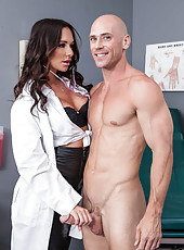 Gorgeous brunette angel Destiny Dixon opens her sweet mouth and gets a big cock