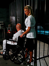 Hardcore fucking scene with a big titted blonde milf Jessica Nyx in the jail