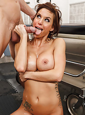 Busty and gorgeous patient Gia Dimarco gets fucked by her doctor in the VIP bathroom
