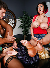 Unforgettable and unstoppable milfs Alura Jenson and Claire Dames share one cock