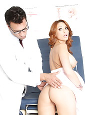 Check out hot fucking scene with excellent milf Monique Alexander and her doctor