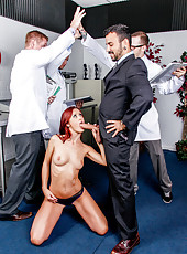Slutty redhead milf Karlie Montana gets fucked like a whore during doctors