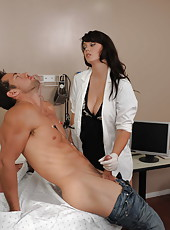 Appetizing and all natural milf Alison Tyler makes experiments with her sexy patient