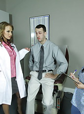 Hardcore doctor with giant tits Nikki Sexx heals this man with her tight asshole