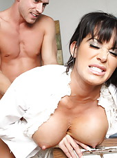 Extremely exciting doctor Savannah Stern seduces a man that came to visit his busty girlfriend