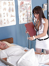 Crazy hot doctor with big tits and great ass April O