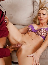 Ravishing milf Lisa Demarco using hairy sissy to seduce handsome boys