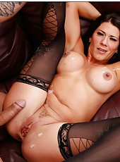 Dirty whore Leena Sky likes when a big cock is deep inside her pussy