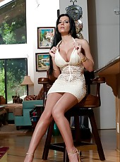 Perfect woman with alluring huge boobs Rebeca Linares gets fucked great