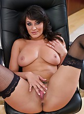 Nasty brunette Charley Chase is glad to taste her fucker