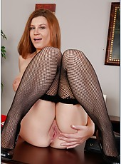 Horny and busty milf Sara Stone looks so hot without her sexy skirt