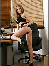 Awesome fuck with a young milf Madison Scott in the hot office