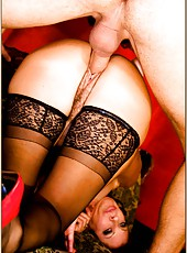Beautiful harlot Vanessa Videl riding a big cock and getting satisfied