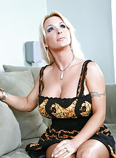 Post varmint Holly Halston playing with big tits and spreading her snatch