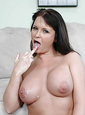 Gorgoeus milf Maya Divine with her bog tits is being nailed hard