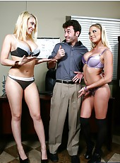 Threesome with passionate ladies named Kagney Linn Karter & Shawna Lenee