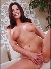 Ambitious cutie Magdalene St. Michaels getting naked and playing with pussy