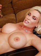 Remarkable milf Diamond Foxxx riding a hard wiener and reaching orgasm