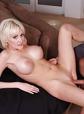 Appealing blonde Torrey Pines seducing and fucking with young fellows