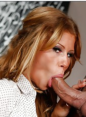 Taned milf Brooklyn Lee shows her shaved pussy because she craves a big cock