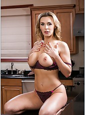 Good-looking mom Tanya Tate taking off clothes and doing bad things