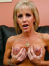 Attractive milf Jordan Lynn getting wet while enjoying a big wiener