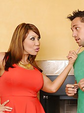 Skillful whore Ava Devine prefers to make deep blowjobs for her friends