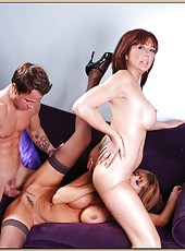 Demonic prostitute Desi Foxx getting dirty in an awesome threesome