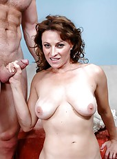 Lovely mature whore Danielle Frost is being nailed nicely in her sweet twat