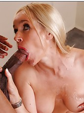 Charming slut Totally Tabitha gets naughty when sees a black wiener