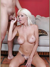 Magnificent porn star Melanie Ann is being fucked hard in her tight pussy