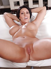 Short-haired milf with huge round boobs and massive butt Dylan Ryder fucked great